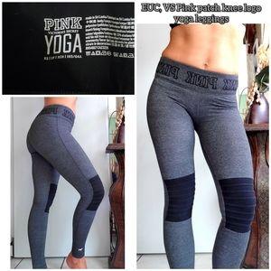 GUC, Vs pink patch knee logo yoga leggings